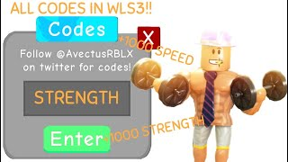 ALL *LATEST* CODES IN WEIGHT LIFTING SIMULATOR 3! 2019 (Roblox)