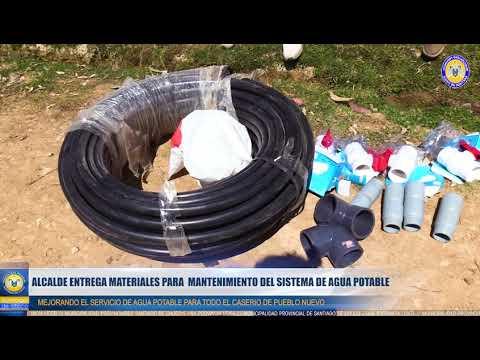 ALCALDE ENTREGO MATERIALES  PARA MANTENIMIENTO DE AGUA POTABLE EN EL CASERIO PUEBLO NUEVO