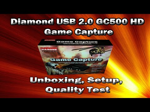 Diamond USB 2.0 GC500 HD Game Capture - Unboxing, Setup, and Quality Test