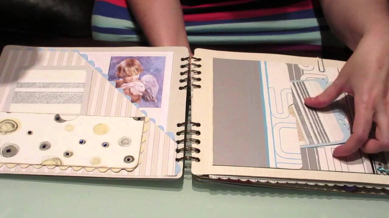 Libro de firmas primera comuni n con encuadernaci n de canutillo escondido youtube - Decorar album de fotos por dentro ...