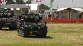 Demonstration of Alvis Scorpion tanks - Banbury Rally 2013