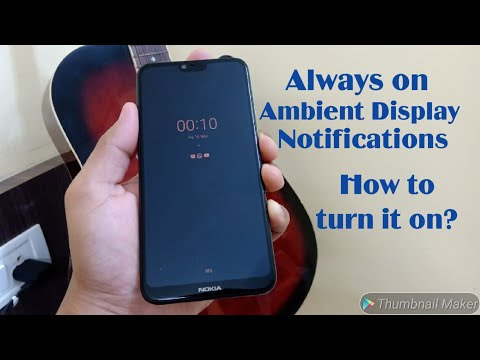 How to Get Always on Ambient display Notifications on Nokia