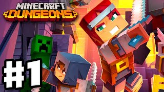Minecraft Dungeons - Gameplay Walkthrough Part 1 - Squid Coast, Creeper Woods, and Creepy Crypt!