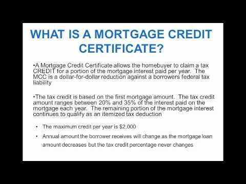Mortgage Credit Certificate - South Bend Indiana - YouTube