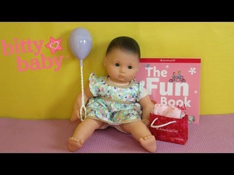 BITTY BABY Gets New Birthday Presents!  Bitty Baby Party Goody Unboxing!