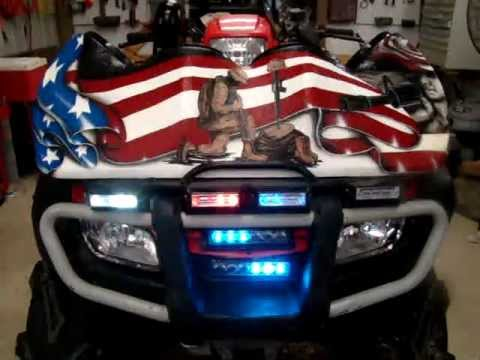 Police Led Lights >> Lavoi's Coolest ATV Police Lights in the World - YouTube