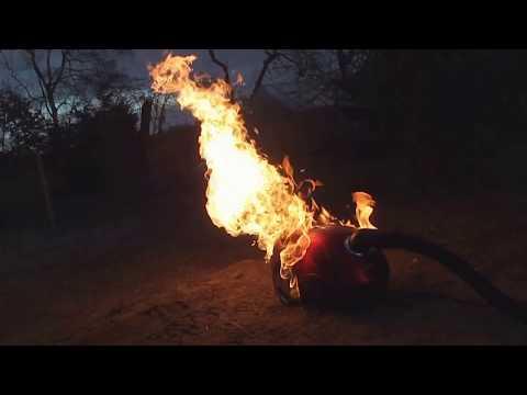 vacuum cleaner + Gasoline  = EXPLOSION [Bonus at the end] VIRAL