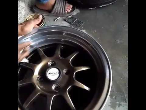 Polishing velg by bhiza auto tyres