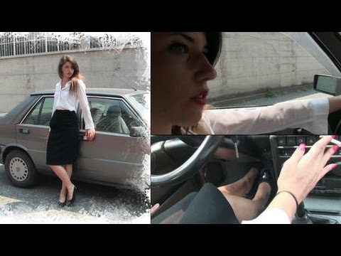 I Need A Gas Station >> Miss Black Mamba drives the Lancia Prisma while smoking | Trailer Pedal Pumping - YouTube