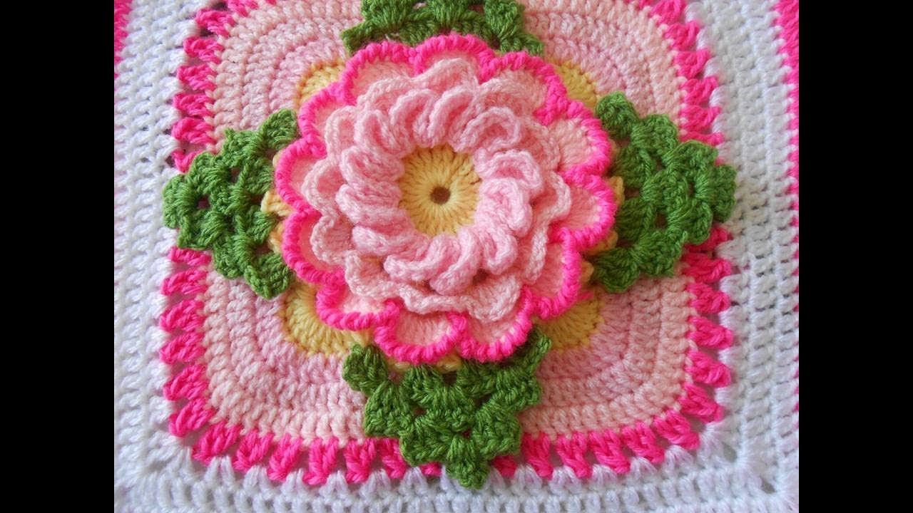 Muestra para colcha a crochet video 1 youtube - Colchas a ganchillo muestras ...
