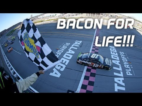 The Morning Rush with Travis Justice and Heather Burnside - NASCAR Driver Aric Almirola Gives Away Free Bacon For Life