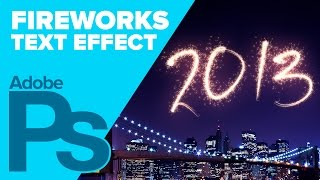 How to Create Fireworks Text in Photoshop