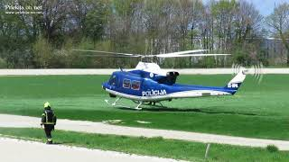 Helikopter iz Ljutomera v UKC Ljubljana prepeljal obolelo osebo