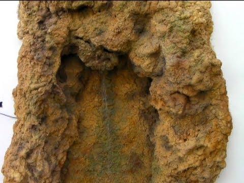 Diy cascada de agua de espuma de poliuretano parte dos for Cascada de agua para jardin
