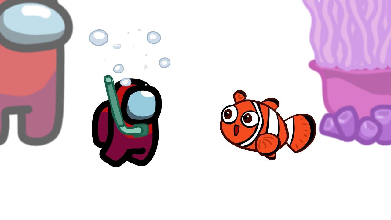 Mini Crewmate Kills 6 Finding Nemo Characters | Among Us