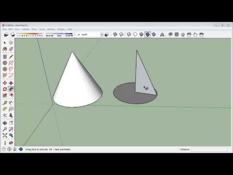 how to draw cone in sketchup