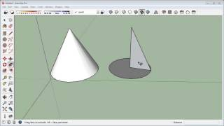 sketchup How To Make a Cone in 3 different ways