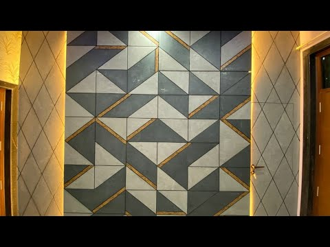 Wall Design With Wallpaper and Wall paneling// Bedroom wallpaper Design