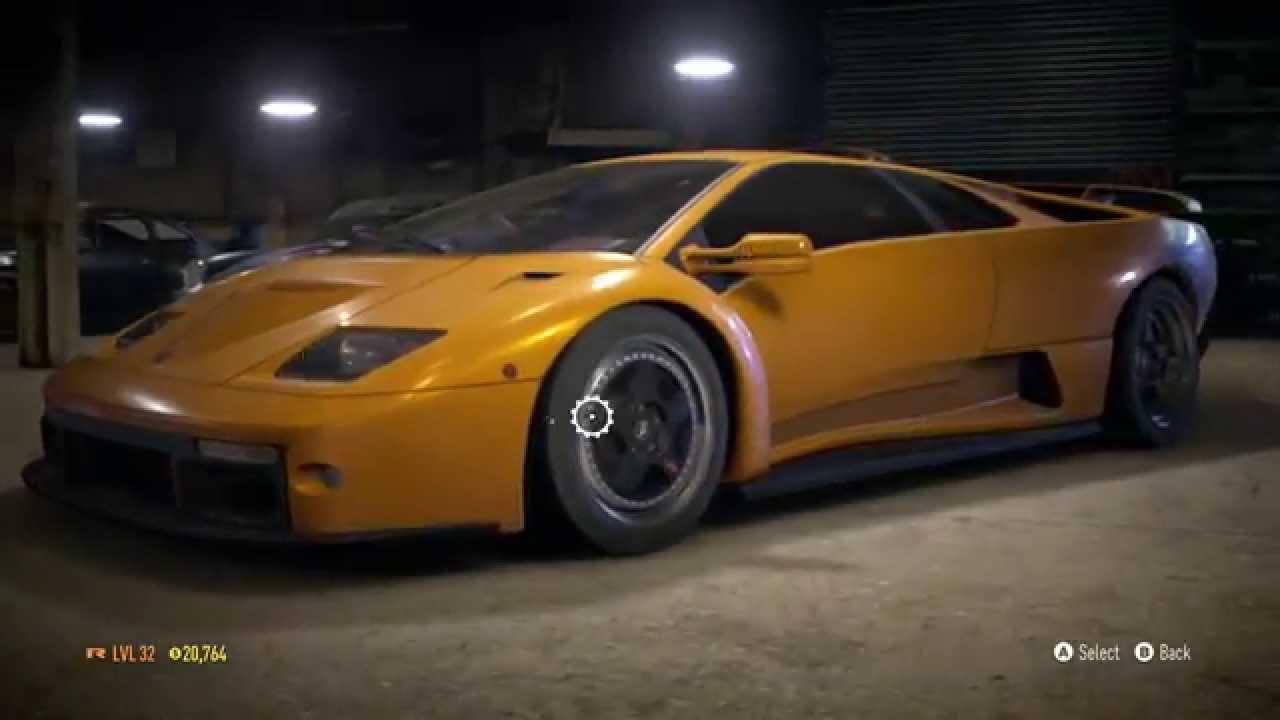 need for speed 2015 lamborghini diablo build - youtube
