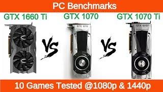 Nvidia GTX 1660 Ti vs GTX 1070 vs GTX 1070 Ti