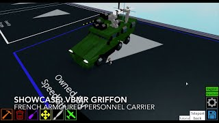 Roblox showcase: VBMR Griffon Armoured Personnel Carrier