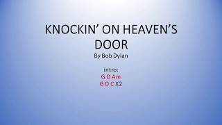 Knockin On Heaven's Door by Bob Dylan - Easy chords and lyrics