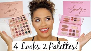 Emily Edit Review + Tutorials! 4 Looks 2 Palettes   Emily The Want & Emily The Needs