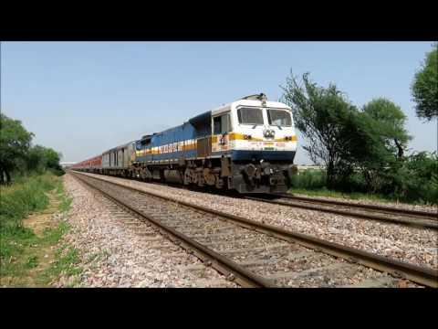 Diesel Monsters in Action : Trains Speeding on Delhi - Rewari route