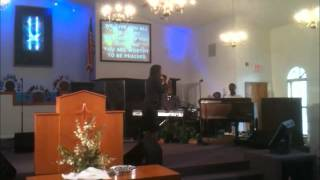 Minister Ishika Charles singing @ World Harvest Church of God-Alpha and Omega Melody