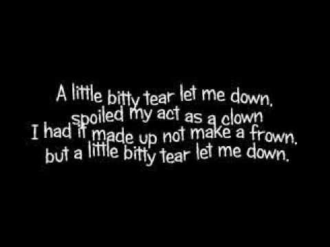 Burl Ives A Little Bitty Tear with LYRICS