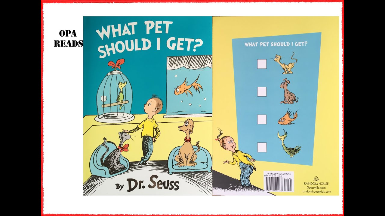 Opa Reads to Willow & Walter: Original Poem & What Pet Should I Get? By Dr Suess 7-29-2015 - YouTube