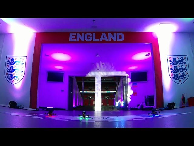 Drone Racing at Wembley Stadium | live streamed over 4G