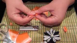 Видеоурок №3. Цветок-канзаши. Для начинающих