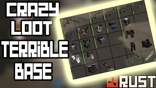 CRAZY LOOT... TERRIBLE BASE! Rust Solo Survival Gameplay #40