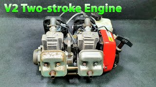 Build A 2 Cylinder In-line Two-stroke Engine