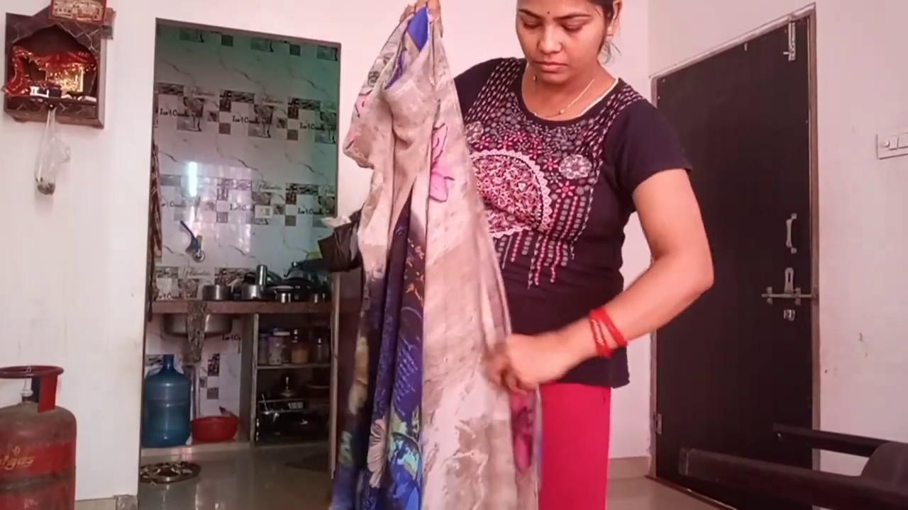 How to fold saree fast /easy trick to fold saree / saree tah karne ka tarika - YouTube