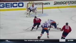 Kuznetsov glides in for pretty goal on Halak