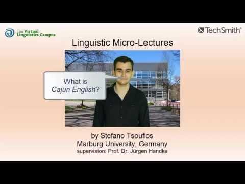 Cajun English ☆ Linguistics Lecture