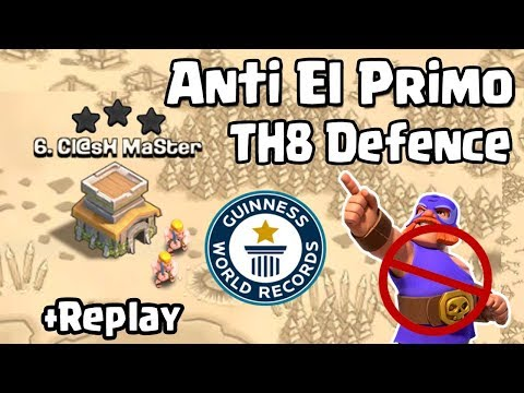NEW TH8 WAR BASE 2018 Anti 3 STAR WITH REPLAY | Town Hall 8 (TH8)  WAR  BASE CLASH OF CLANS