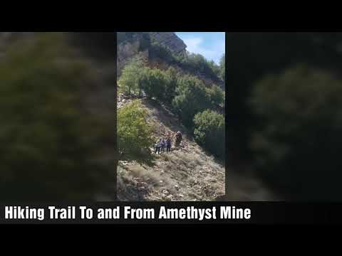 Hiking Trail To And From Arizona Amethyst Mine