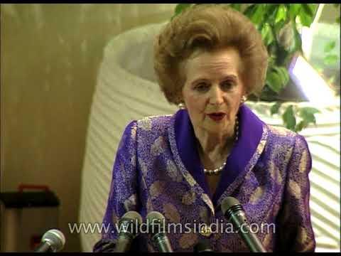 Margaret Thatcher - Iron Lady speaks about Rajiv Gandhi