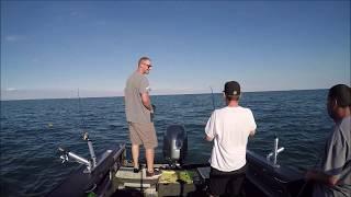 Trolling Lake St Clair 7-18-18.  Drim/Bass