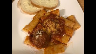 Rigatoni Pasta and Meatballs, Grand kids doing the Takis Challenge and Bloopers