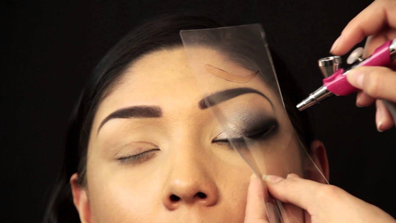 dinair airbrush makeup smokey eye tutorial youtube