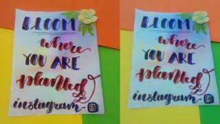 Brush pen background tutorial/Brush lettering background/Lettering background/Lettering tutorial