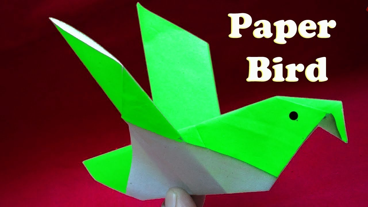 Paper Bird Origamihow To Make Easy Origami Paper Bird