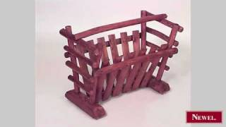 Antique American Rustic Old Hickory magazine rack with