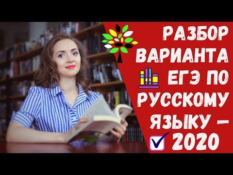 РАЗБОР ВАРИАНТА ЕГЭ по русскому языку - 2020 [IrishU]
