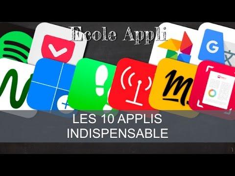 TOP - 10 Applis Indispensable sur iOS (Ecole Appli Spécial)