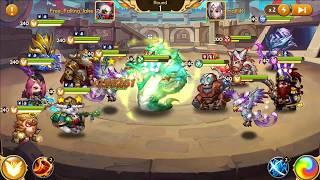 Epic Summoners - Rainbow team vs Saint team 800k power